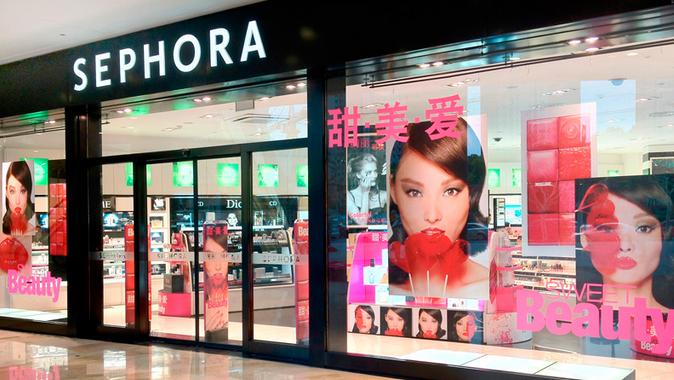Tienda de Sephora en China. Vender y fabricar en China no es ser cruelty free
