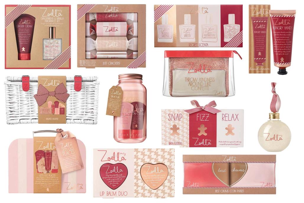Productos colección Zoella Beauty Christmas 2016