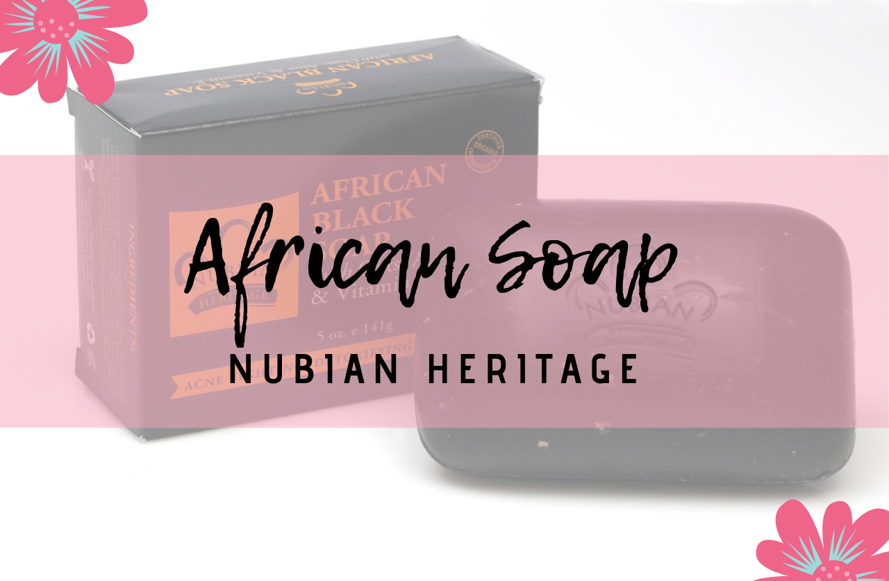 Jabón negro de Nubian Heritage