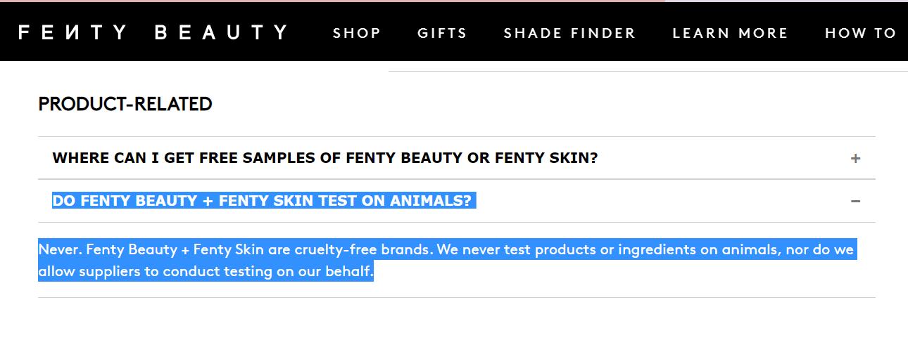 ¿Fenty es cruelty-free o no?