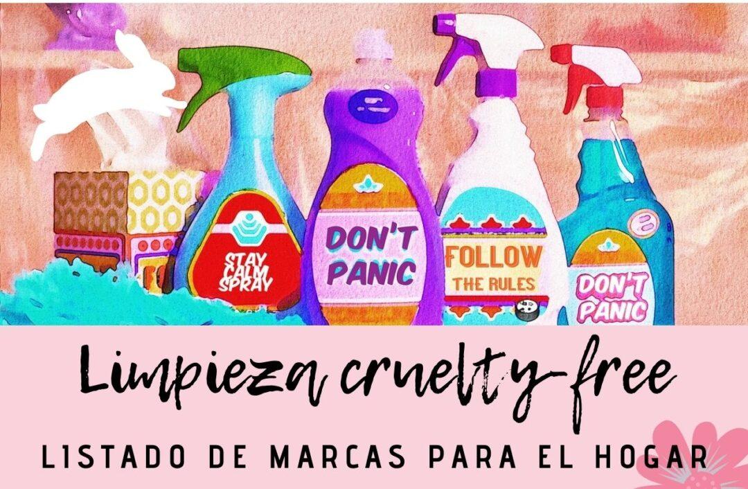 Productos para la limpieza del hogar cruelty free